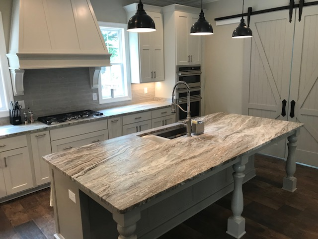 Quartz Amp Granite Surfacing Kitchen Countertops In Blue